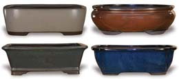 CH1128-1130 Bonsai Pots Without Saucers--case Pack