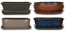CH1131-1133 Bonsai Pots With Saucers