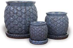 CH1538-1540 Pineapple Belly Pots