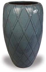 CH1664 Tall Round Planter with Trellis Design
