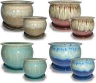 CH548-549 Blended Glaze Belly Pots