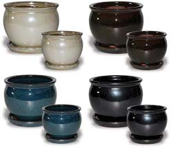 CH550-551 Solid Glaze Belly Pots
