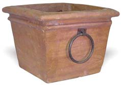 MA001 Square Pot with Iron Handles