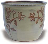 MP611-615 Angie Pots With Love Birds Carving