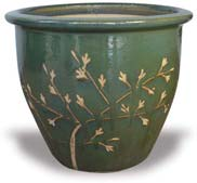 MP918-924 Garden Pot with Cherry Blossoms