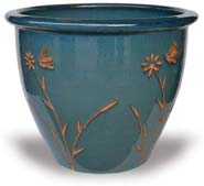 MP939-945 Garden Pots with Butterfly Carving