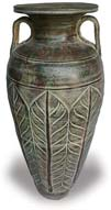 TP378 Vase with Feather Design