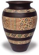TP384 Vase with Tracery Design