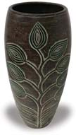 TP389 Tall Vase with Tree Design