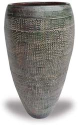 TP416 Tall Vase with Grid Design