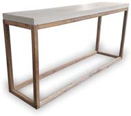 VP1161 Rectangular Concrete Shelf with Wood Legs