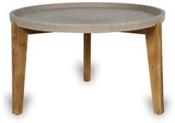 VP1315 Medium Table with Wood Legs