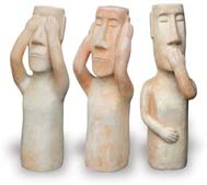VP204-206 See No Evil, Hear No Evil, Speak No Evil Figures