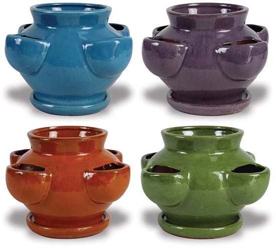 Small Stawberry Planter Ch1244 Wholesale Pottery The