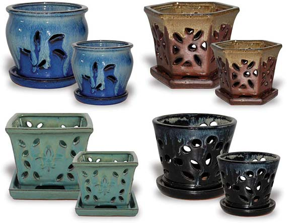 CH627-634 Orchid Pot Assortment Fall Collection