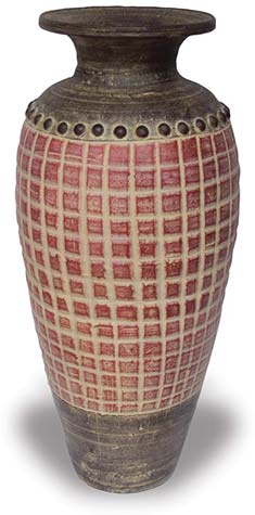 TP382 Vase with Tabulation Design