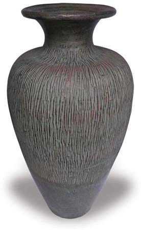 TP408 Vase with Patina Design