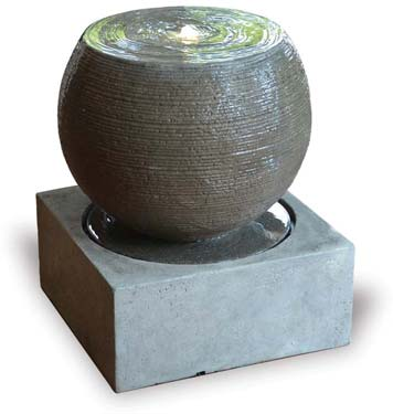 VP1132 Round Fountain with Base & LED Light Top