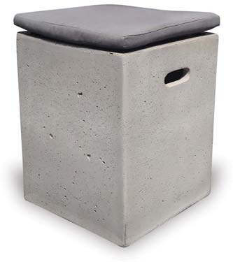 VP1157 Square Concrete Stool with Cushion