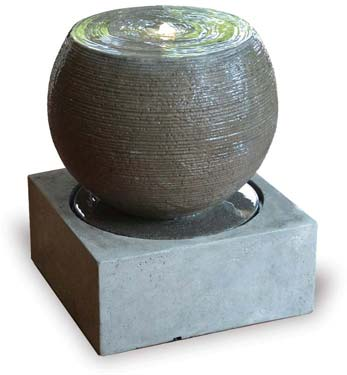 VP1250 Round Fountain with Base and LED Light, Small