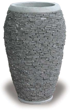 VP646 Slate Tall Round Planter