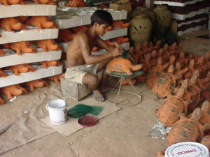 Pottery Factory in Asia
