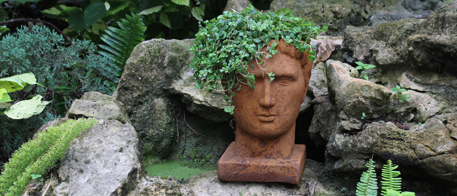 rust colored planter head