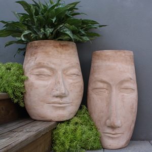 Face and Head Shaped Planters