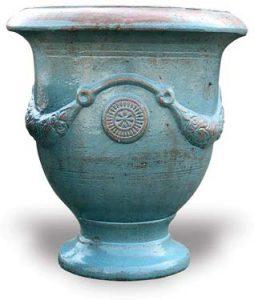 Rustic Blue Urn